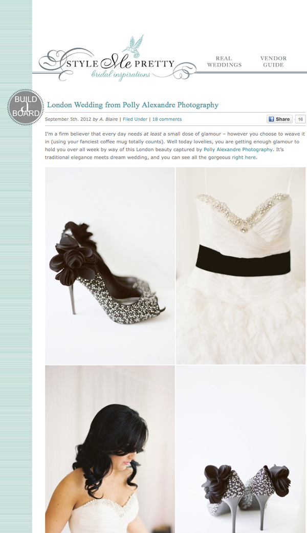 London Wedding on Style Me Pretty